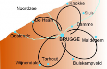 Cycling Holiday in Bruges: Map