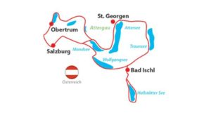 Salzburg Lakes Cycle Tour - Map of the Route