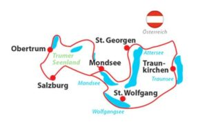 Salzburg Lakes Cycling Tour - Map of the Route