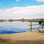 Tandem Bike Tour of Sardinia - A Break from the Traffic on the way to Cagliari