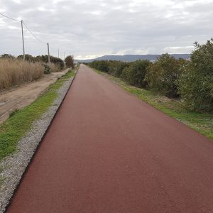 Tandem Bike Tour of Sardinia - Brand New Cycle Path leaving Sant'Antioco